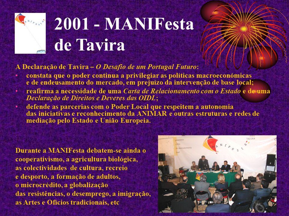 2001 - MANIFesta de Tavira A Declaração de Tavira – O Desafio de um Portugal Futuro: