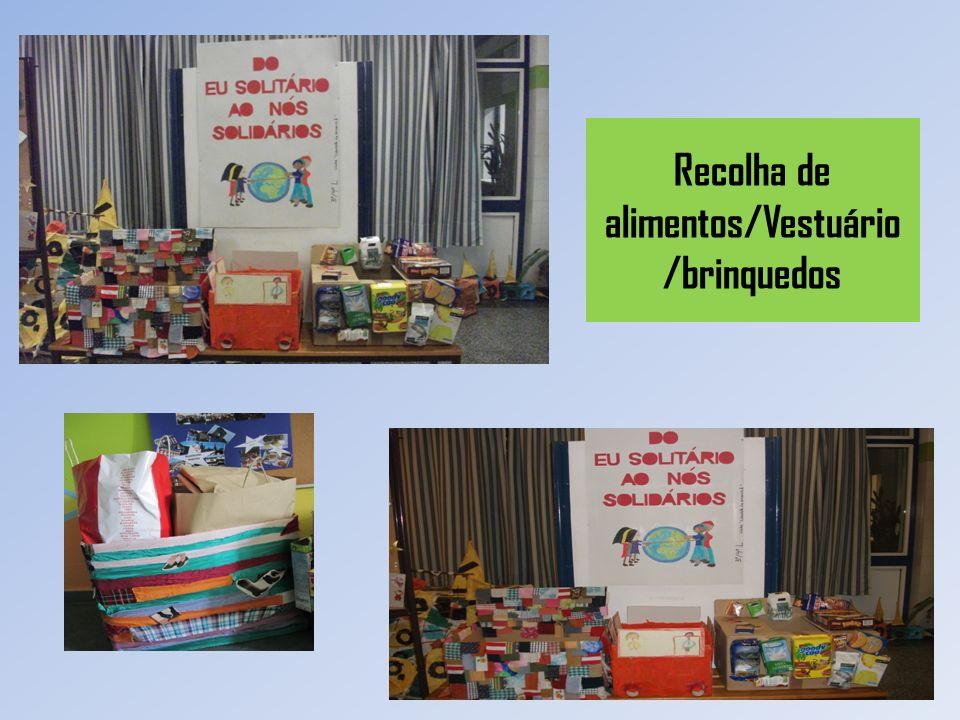 Recolha de alimentos/Vestuário/brinquedos