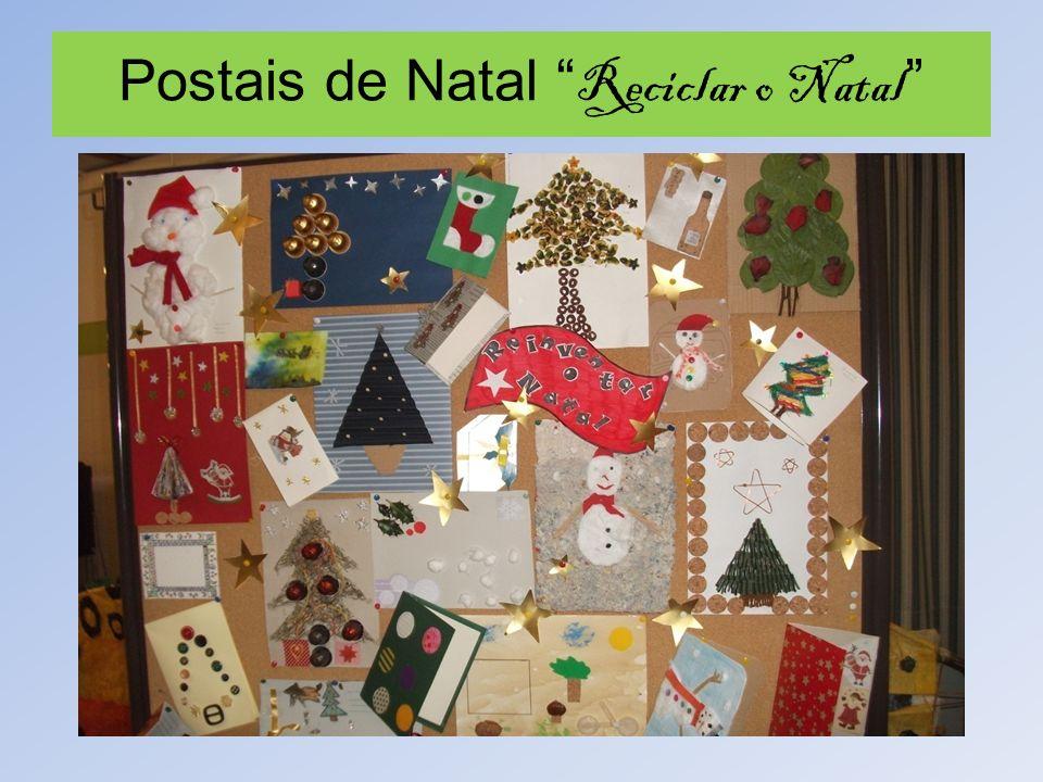 Postais de Natal Reciclar o Natal