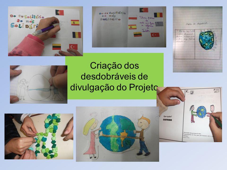 Criação dos desdobráveis de divulgação do Projeto