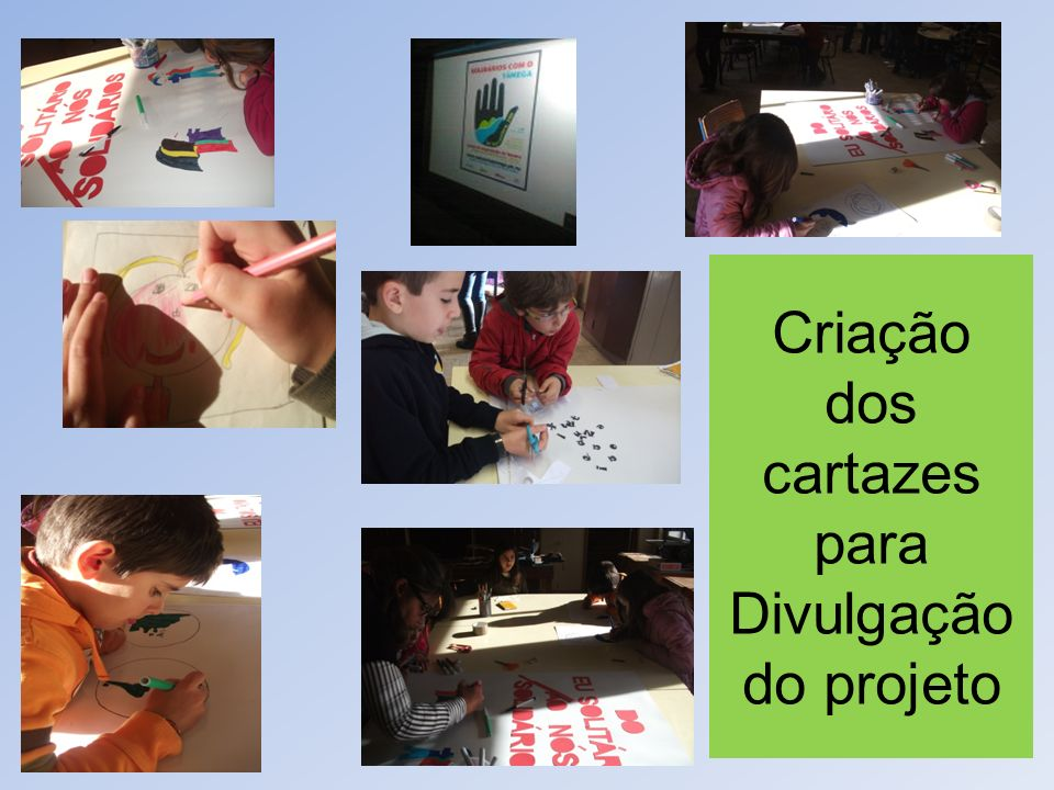 Criação dos cartazes para Divulgação do projeto