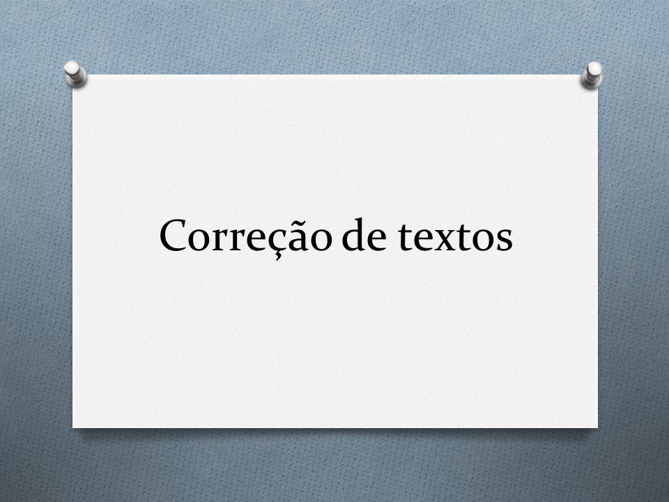 Correção de textos