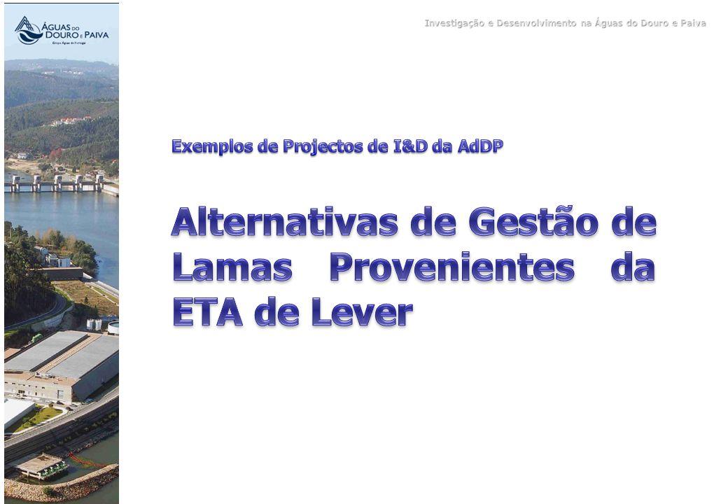 Alternativas de Gestão de Lamas Provenientes da ETA de Lever