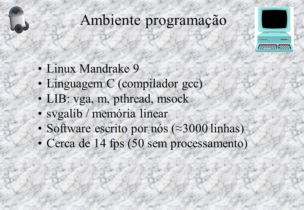 Ambiente programação Linux Mandrake 9 Linguagem C (compilador gcc)