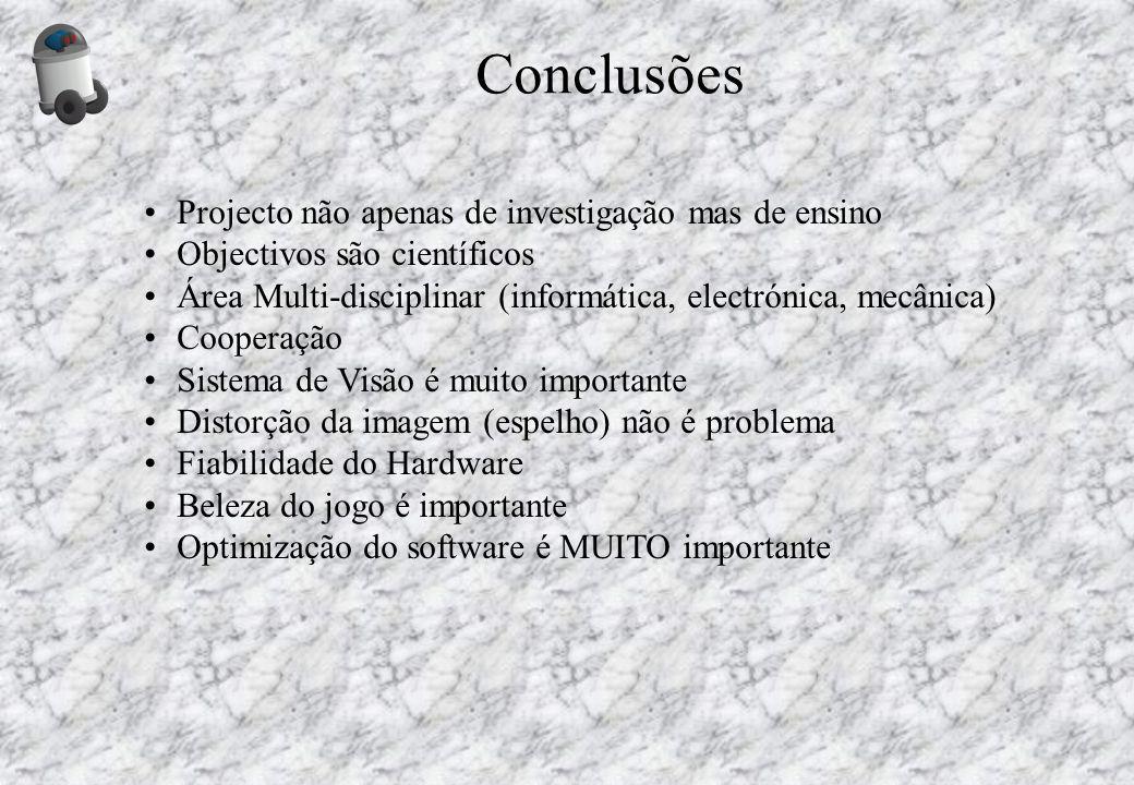 Conclusões Projecto não apenas de investigação mas de ensino