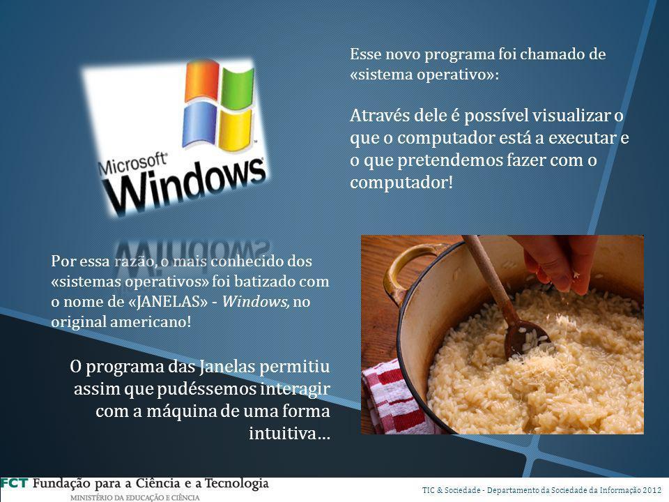 Esse novo programa foi chamado de «sistema operativo»: