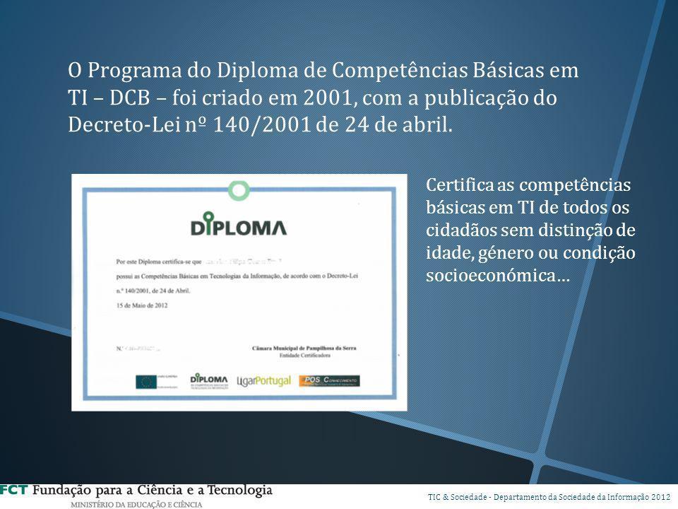 O Programa do Diploma de Competências Básicas em TI – DCB – foi criado em 2001, com a publicação do Decreto-Lei nº 140/2001 de 24 de abril.