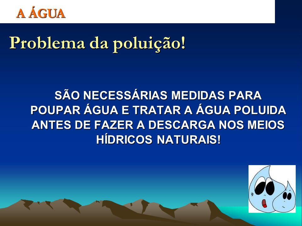Problema da poluição! A ÁGUA