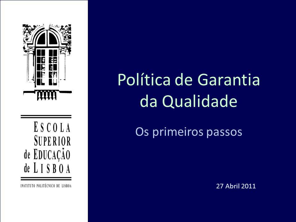 Política de Garantia da Qualidade