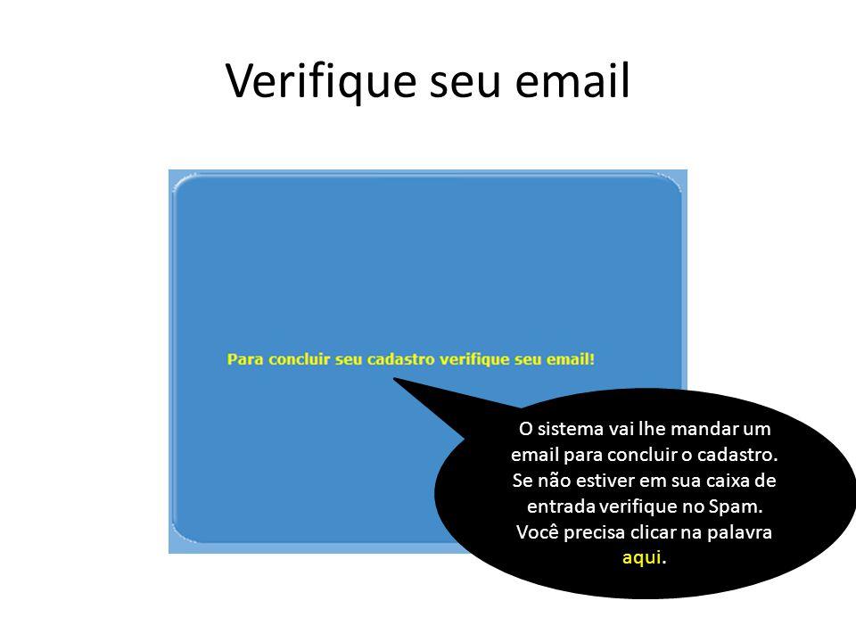 Verifique seu email
