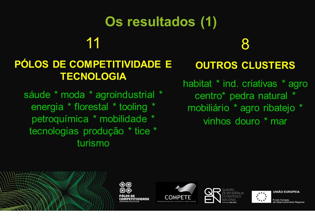 PÓLOS DE COMPETITIVIDADE E TECNOLOGIA