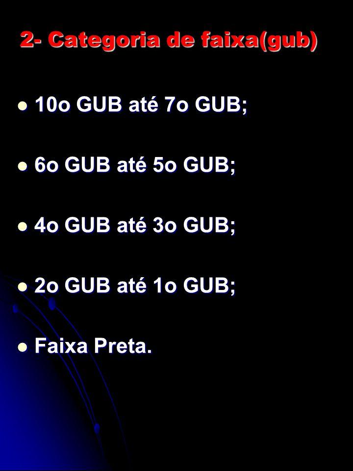2- Categoria de faixa(gub)