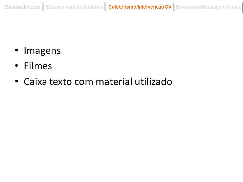 Caixa texto com material utilizado