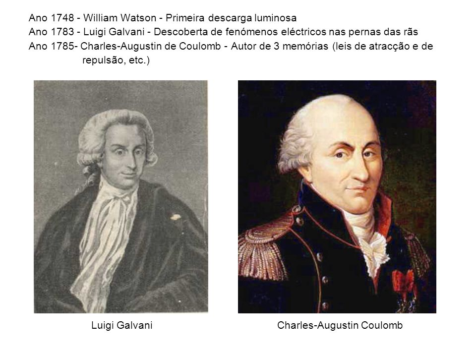 Ano 1748 - William Watson - Primeira descarga luminosa