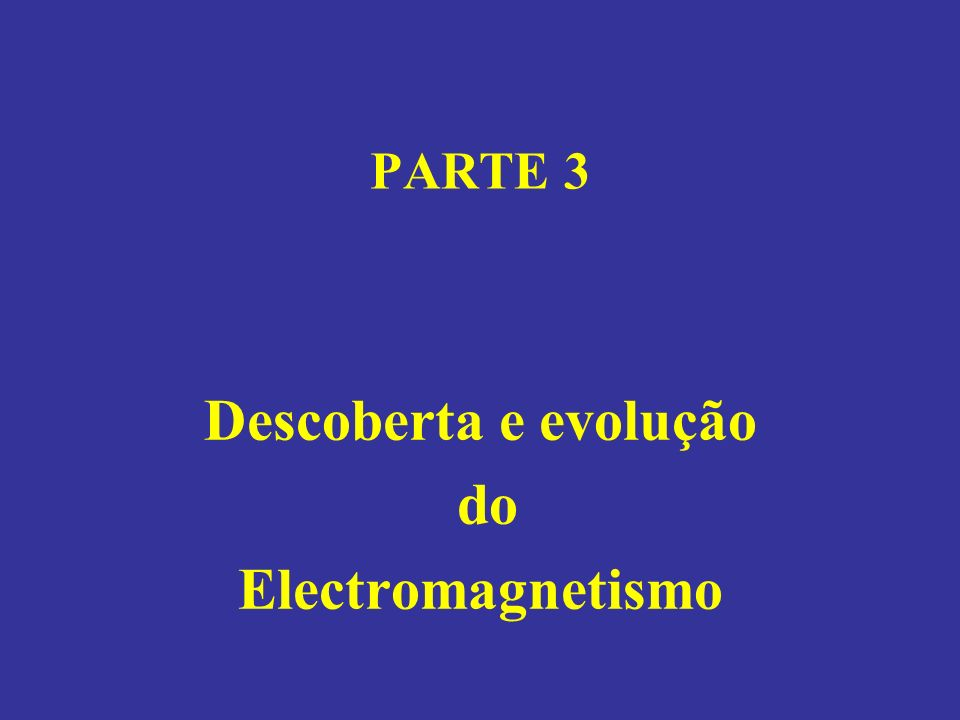 Descoberta e evolução do Electromagnetismo