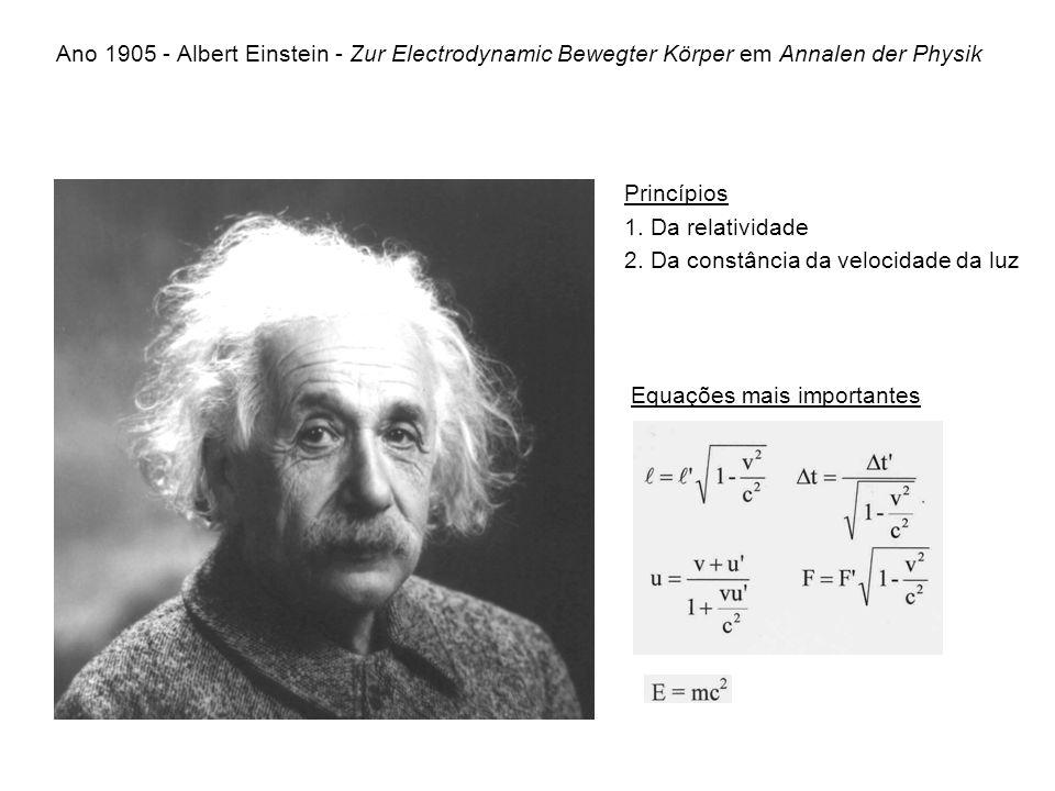 Ano 1905 - Albert Einstein - Zur Electrodynamic Bewegter Körper em Annalen der Physik