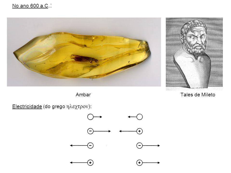 No ano 600 a.C.: Ambar Tales de Mileto.