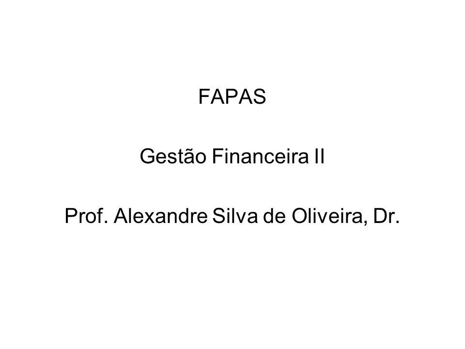 Prof. Alexandre Silva de Oliveira, Dr.