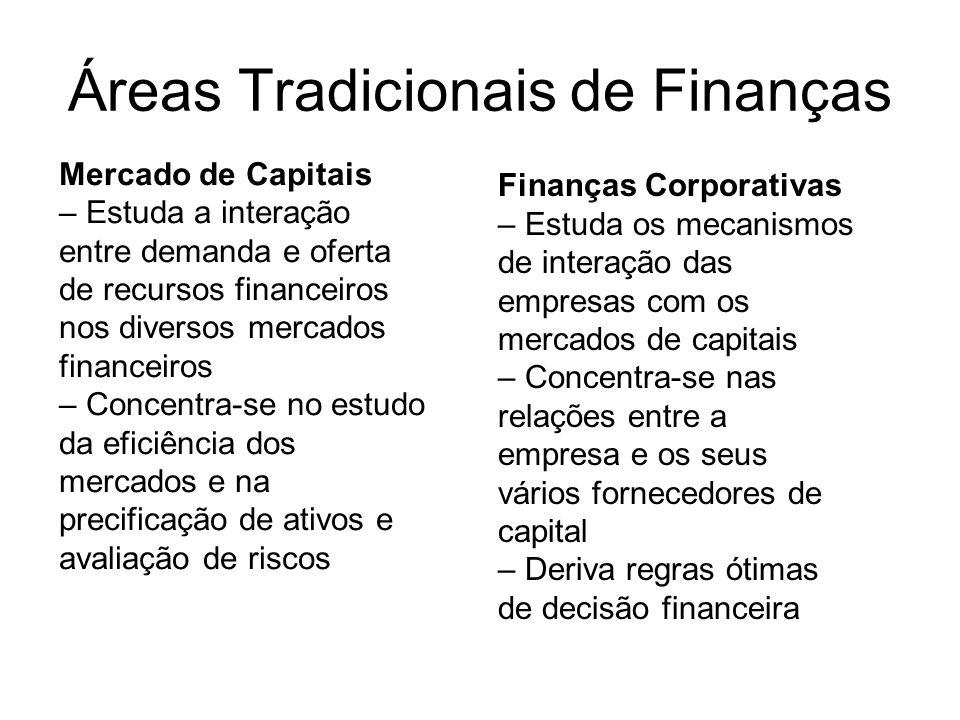 Áreas Tradicionais de Finanças