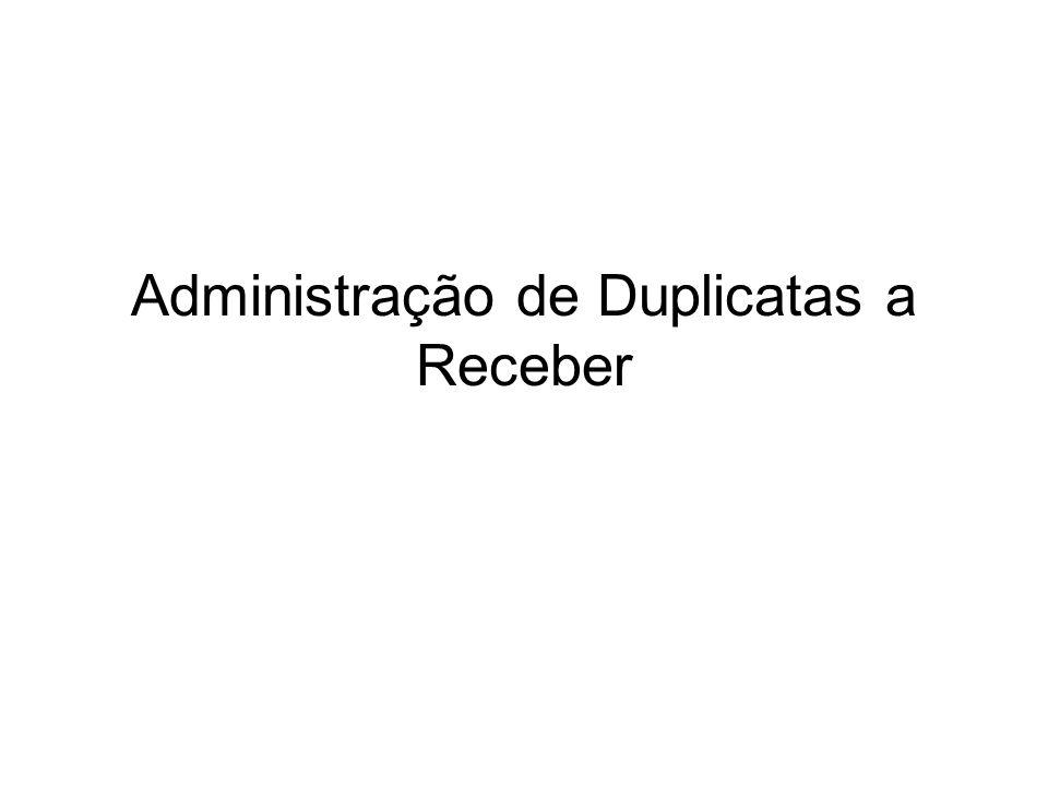 Administração de Duplicatas a Receber