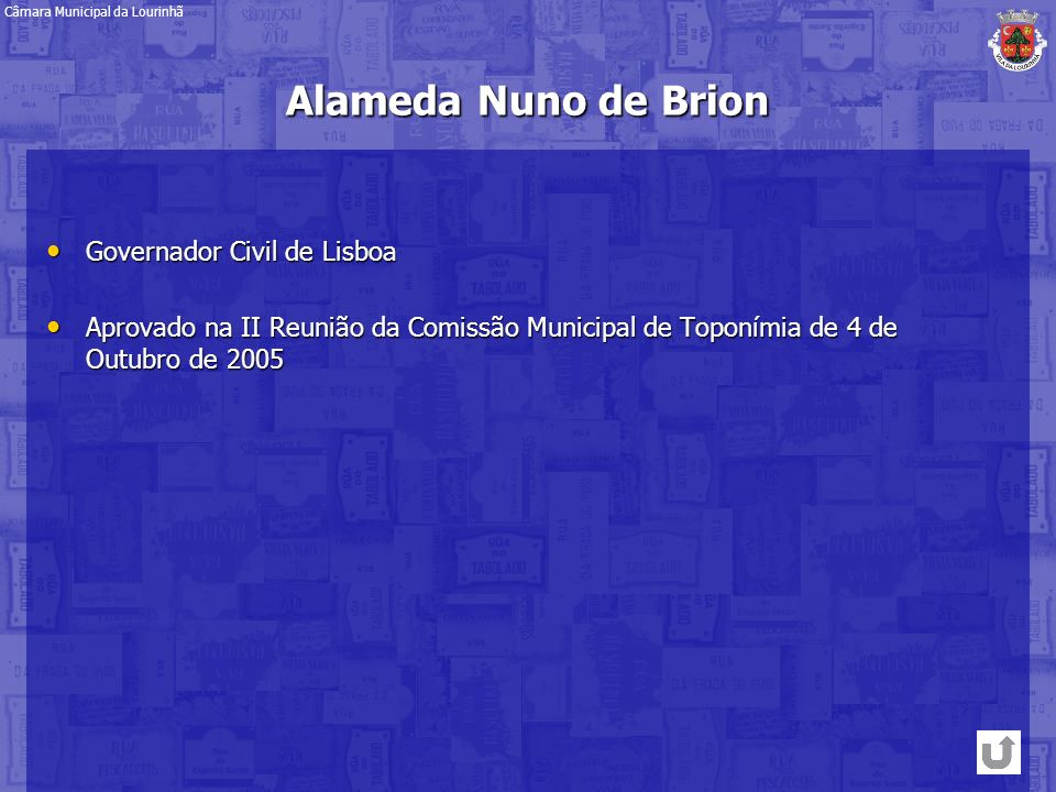 Alameda Nuno de Brion Governador Civil de Lisboa