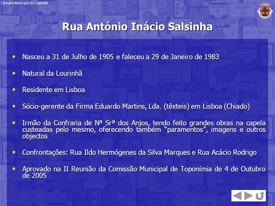 Rua António Inácio Salsinha