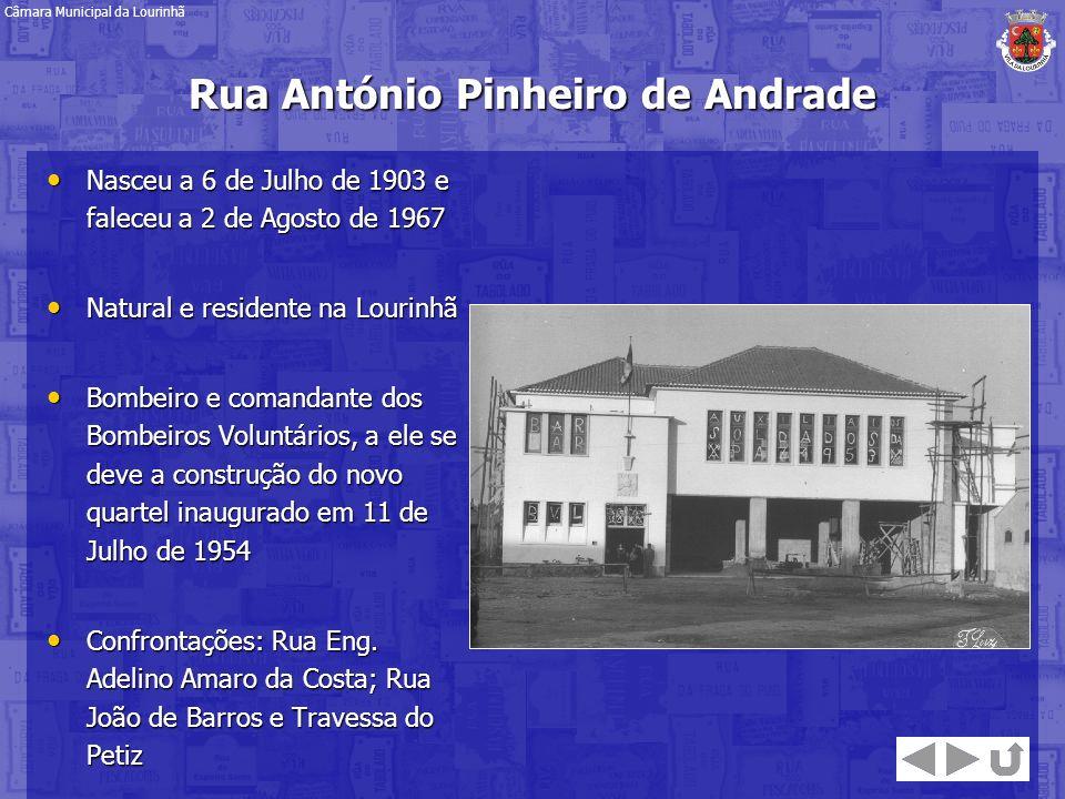 Rua António Pinheiro de Andrade