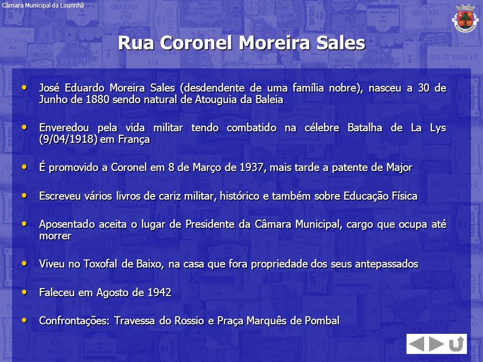Rua Coronel Moreira Sales