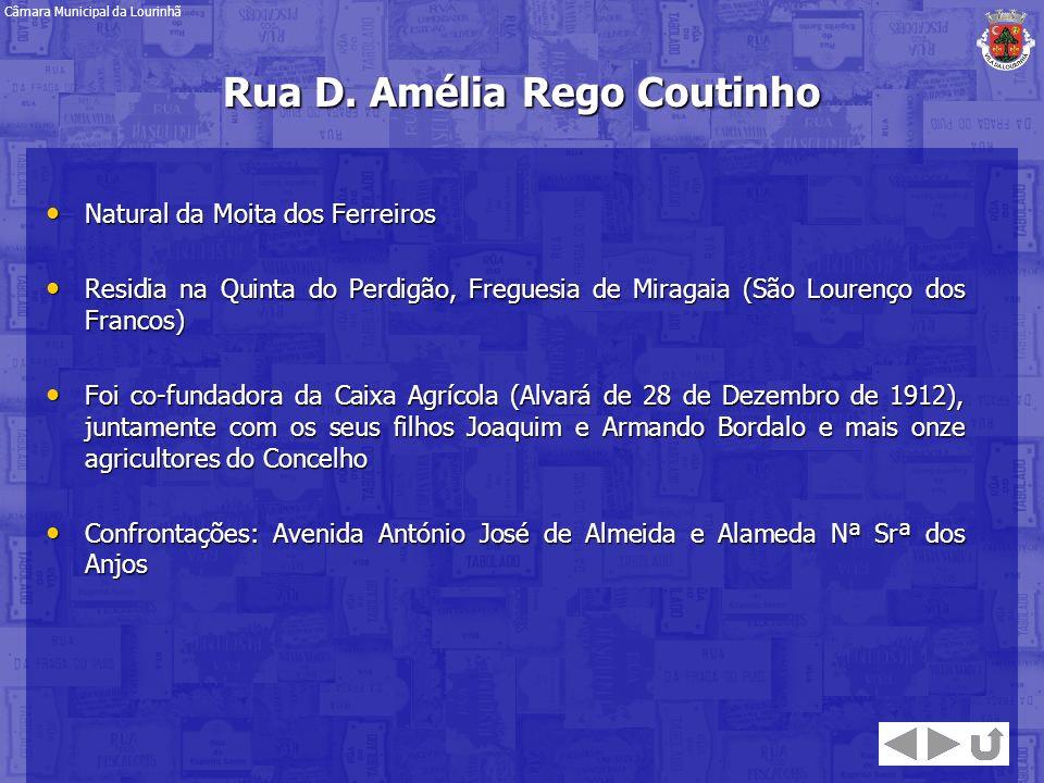 Rua D. Amélia Rego Coutinho