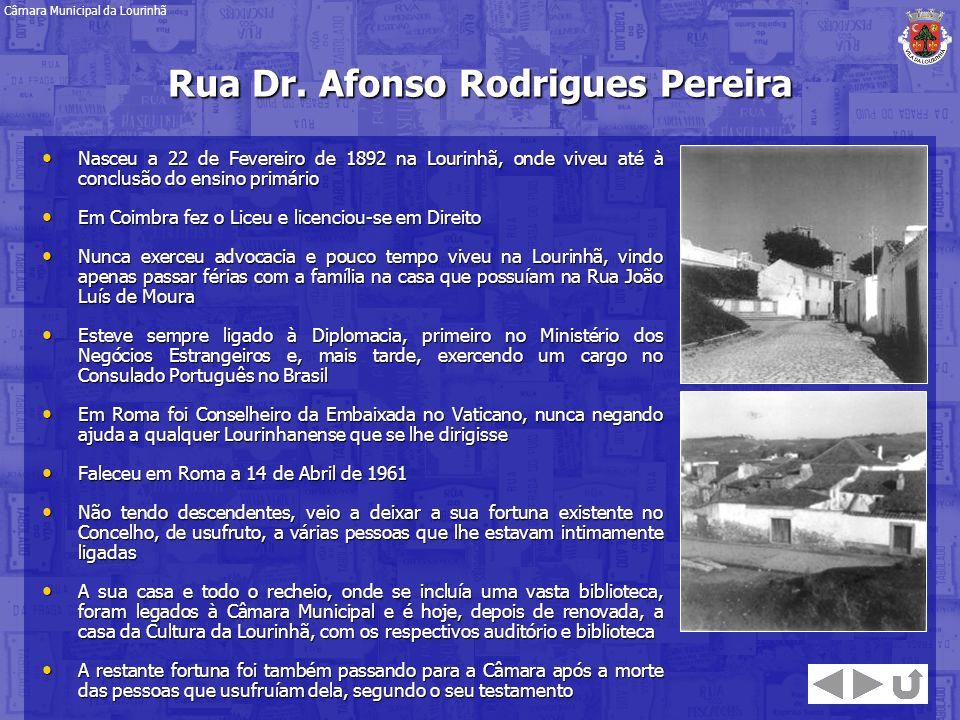 Rua Dr. Afonso Rodrigues Pereira