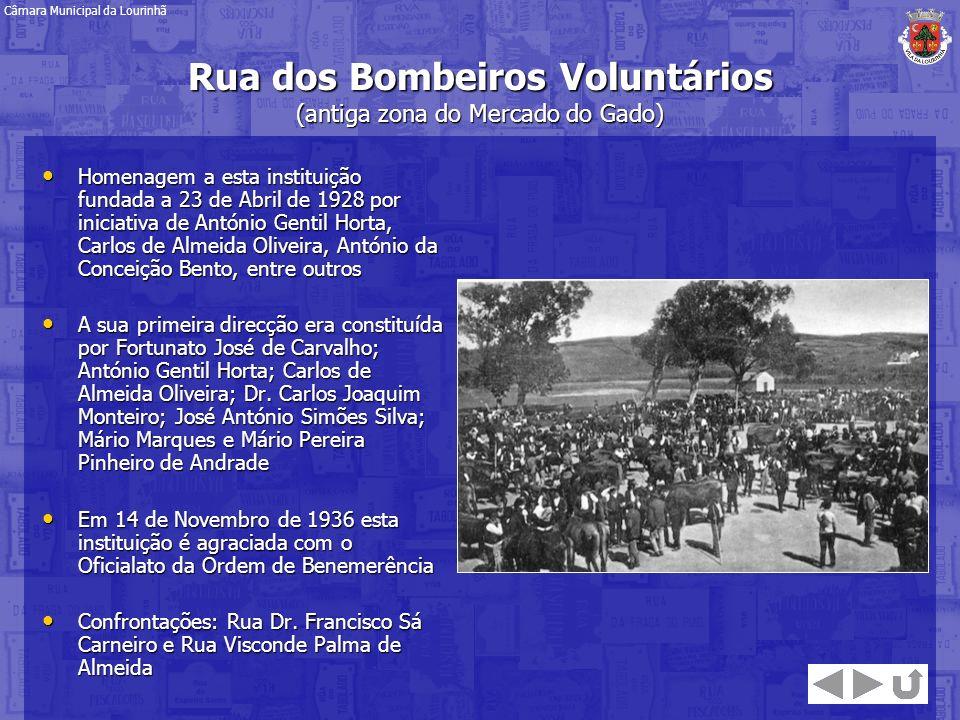 Rua dos Bombeiros Voluntários (antiga zona do Mercado do Gado)
