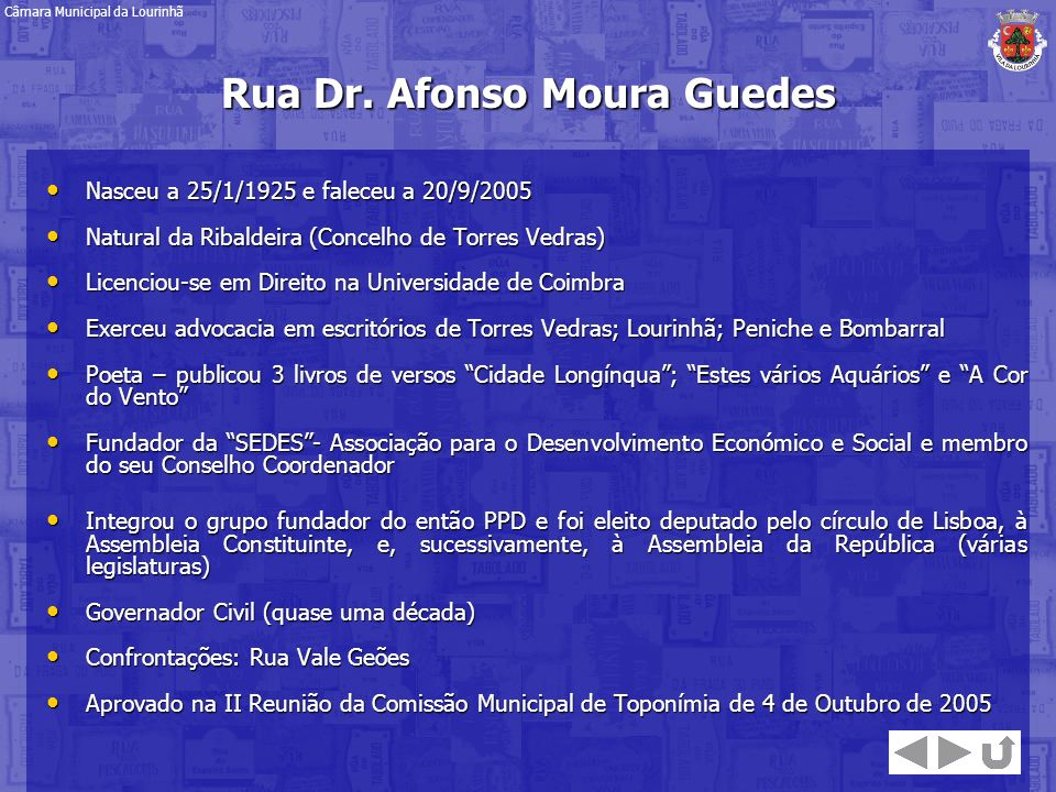 Rua Dr. Afonso Moura Guedes
