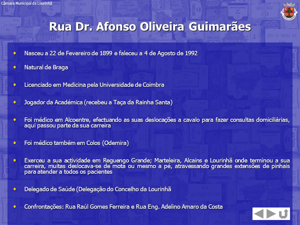 Rua Dr. Afonso Oliveira Guimarães