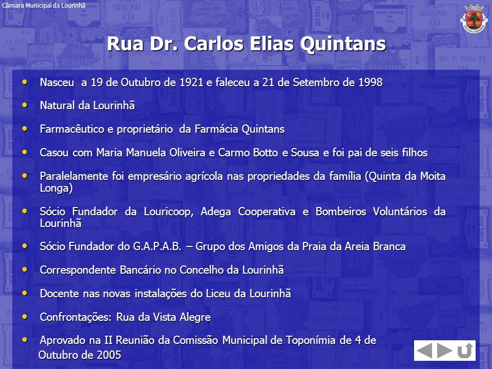 Rua Dr. Carlos Elias Quintans