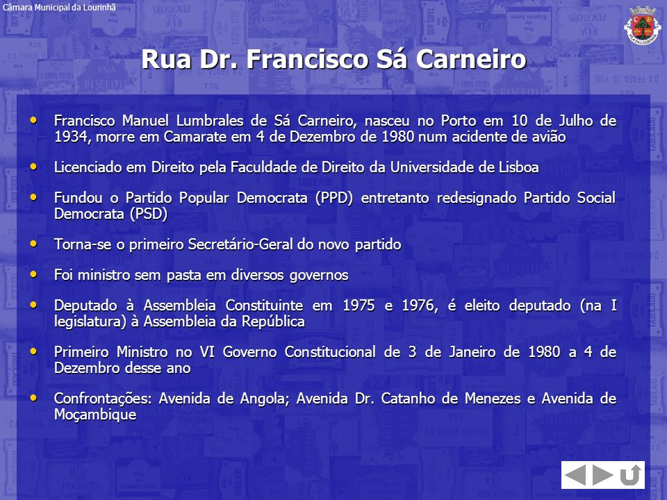 Rua Dr. Francisco Sá Carneiro