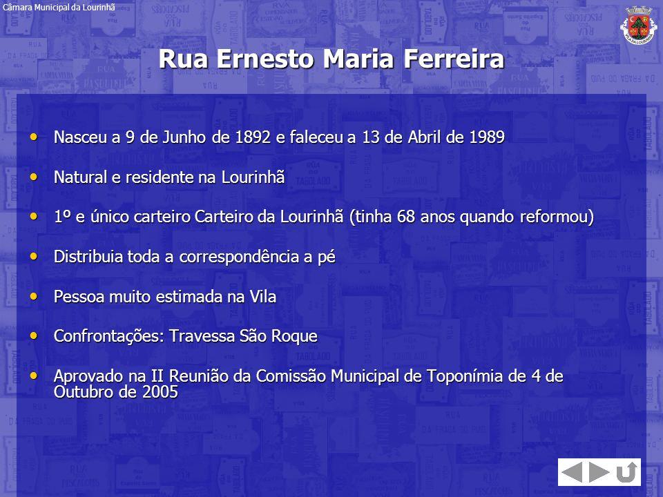 Rua Ernesto Maria Ferreira