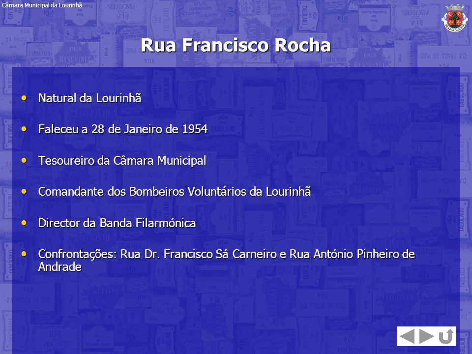 Rua Francisco Rocha Natural da Lourinhã