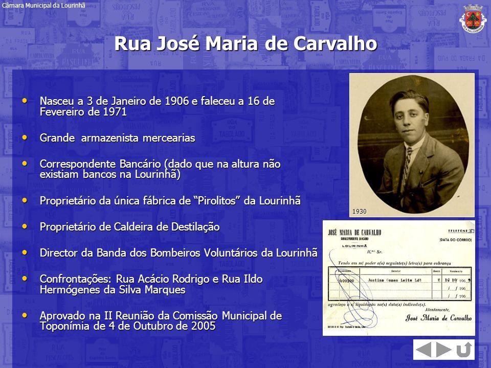 Rua José Maria de Carvalho
