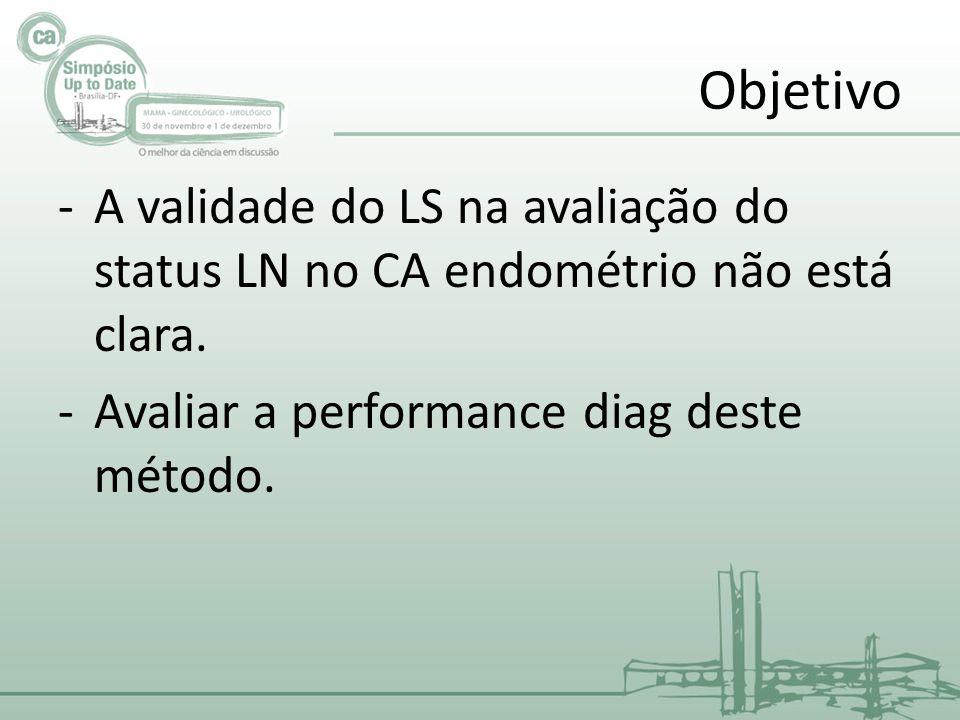 Objetivo A validade do LS na avaliação do status LN no CA endométrio não está clara.
