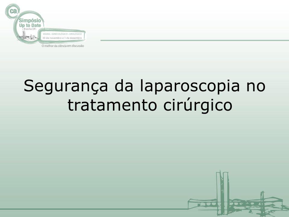 Segurança da laparoscopia no tratamento cirúrgico