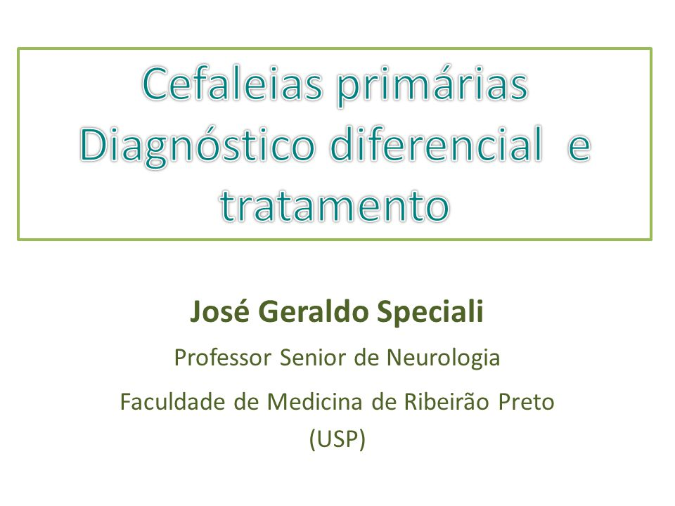 Diagnóstico diferencial e tratamento