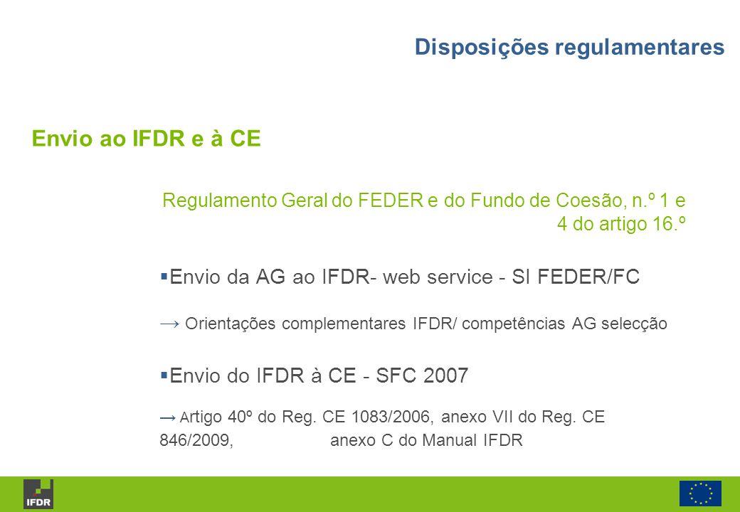 Disposições regulamentares