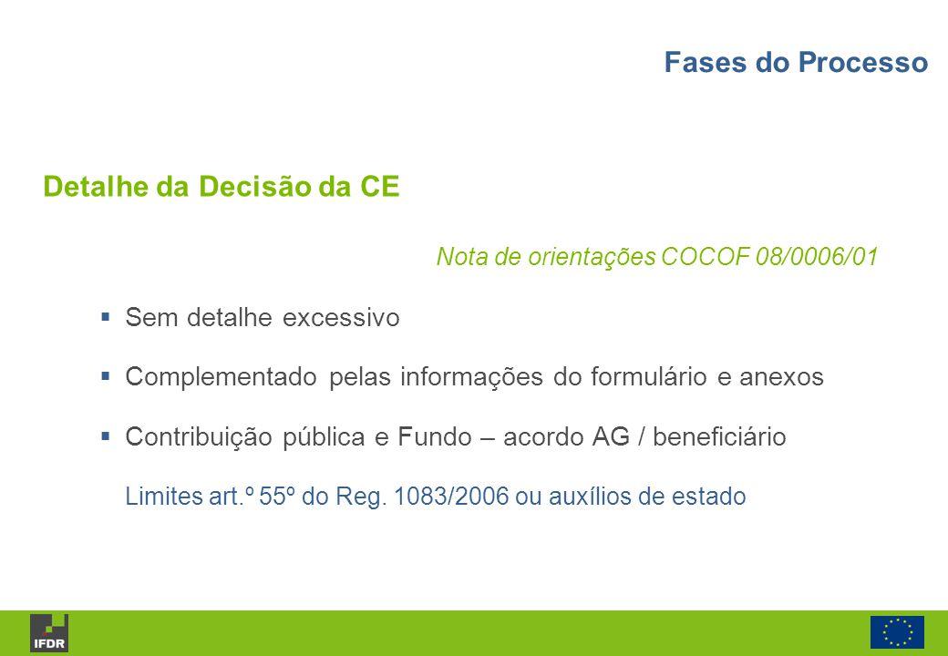 Detalhe da Decisão da CE