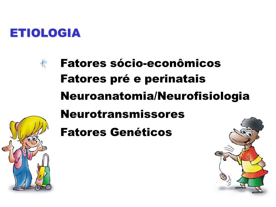 ETIOLOGIA Fatores sócio-econômicos Fatores pré e perinatais