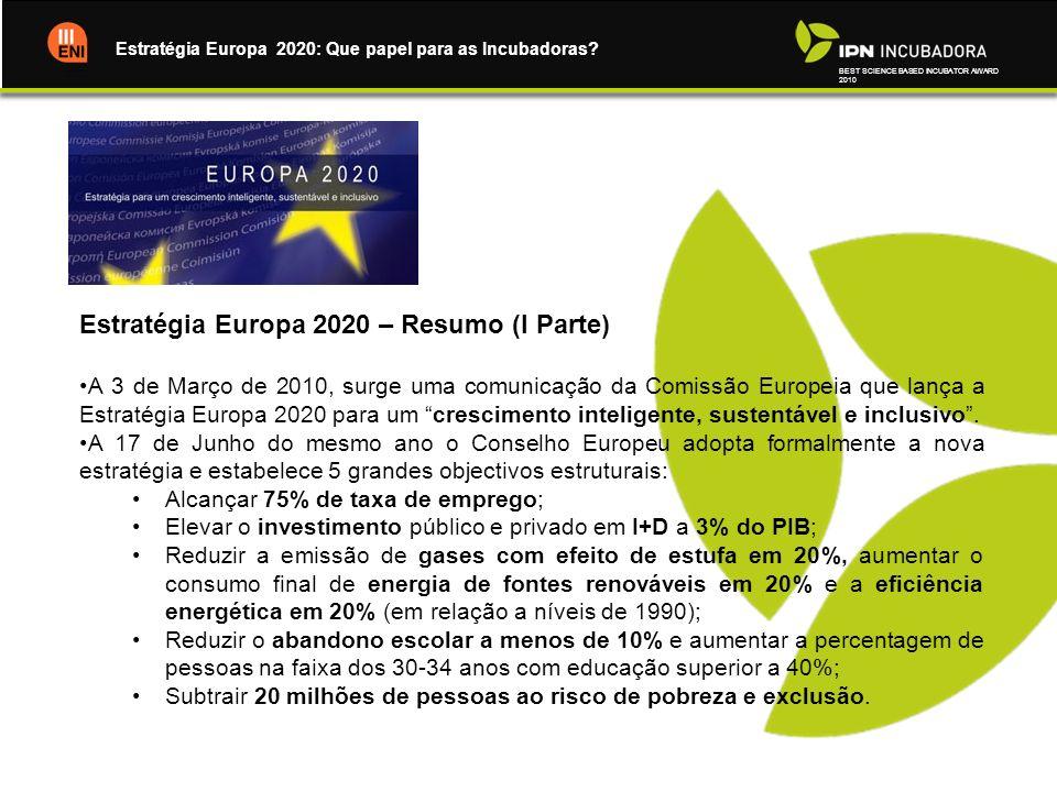 Estratégia Europa 2020 – Resumo (I Parte)