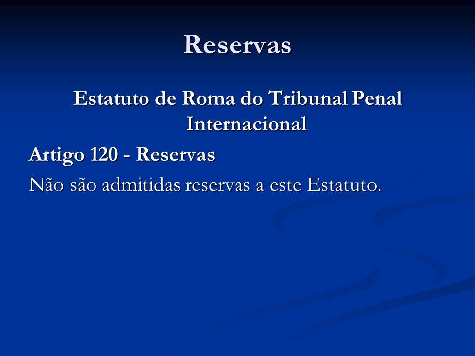 Estatuto de Roma do Tribunal Penal Internacional