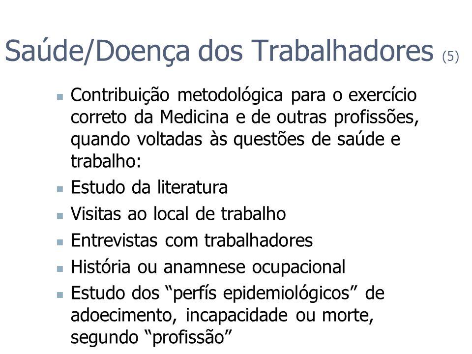 Saúde/Doença dos Trabalhadores (5)