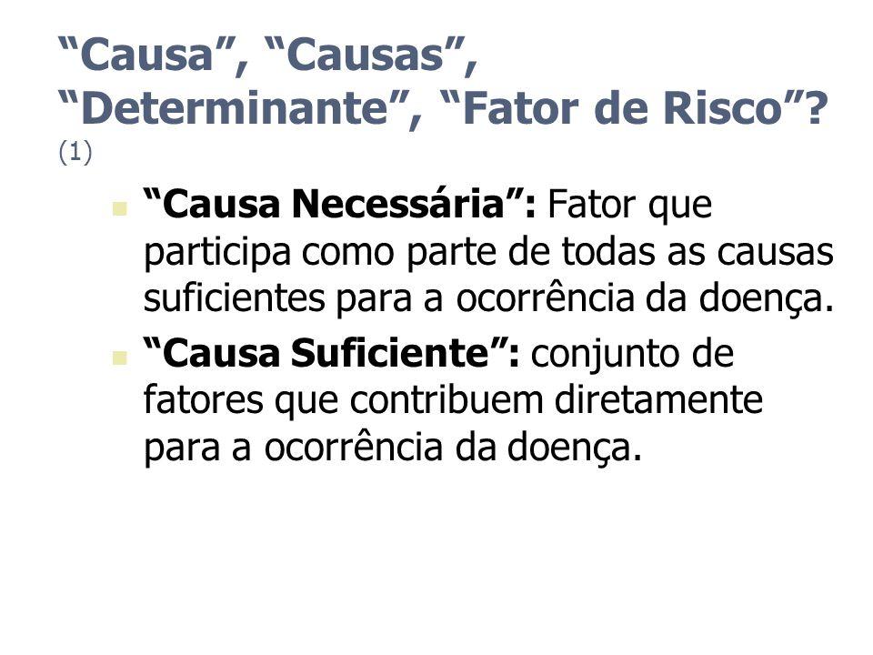 Causa , Causas , Determinante , Fator de Risco (1)