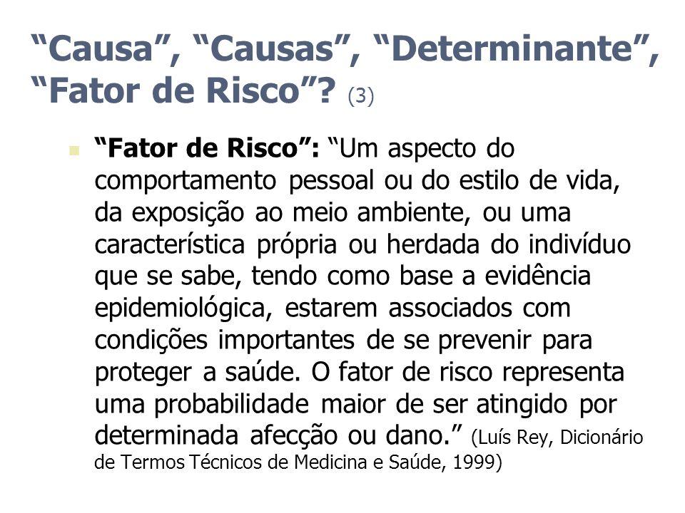 Causa , Causas , Determinante , Fator de Risco (3)