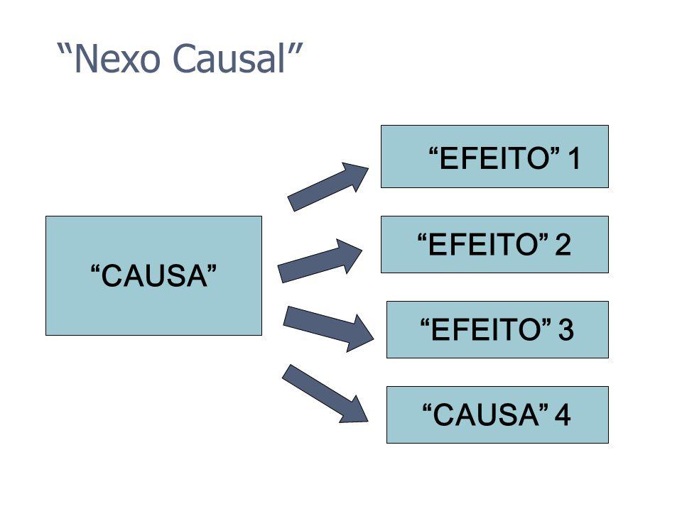 Nexo Causal EFEITO 1 CAUSA EFEITO 2 EFEITO 3 CAUSA 4